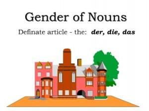 German Language Coach, Gender of Nouns