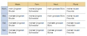 German Language Coach, Declension of Adjectives
