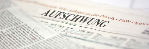 German newspaper headline