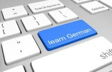 Keybord with the key 'learn German'